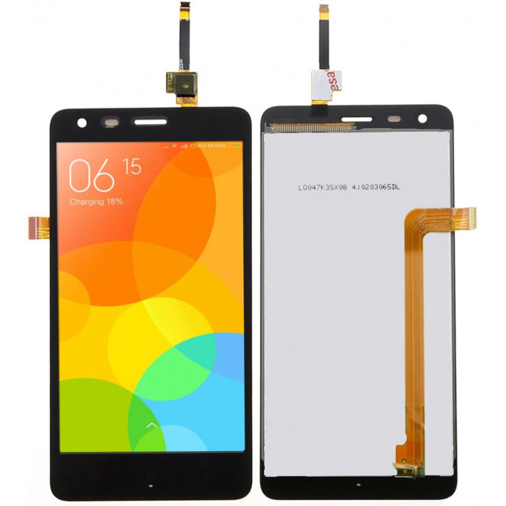 Дисплей для Xiaomi Redmi 2 в сборе с тачскрином, черный
