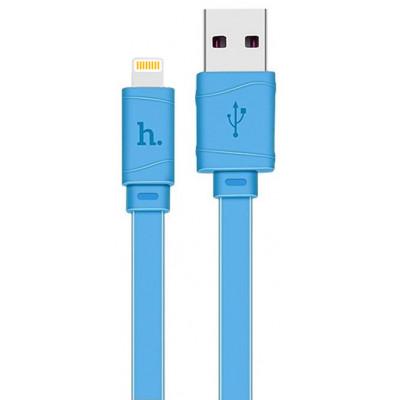 Кабель USB - Lightning hoco. X5 Bamboo 1M, синий