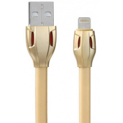 Кабель USB - Lightning Remax Laser Data Cable RC-035i, золотой