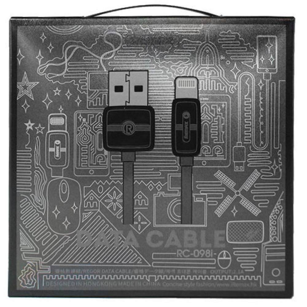 Кабель USB - Lightning Remax RC-098i, черный