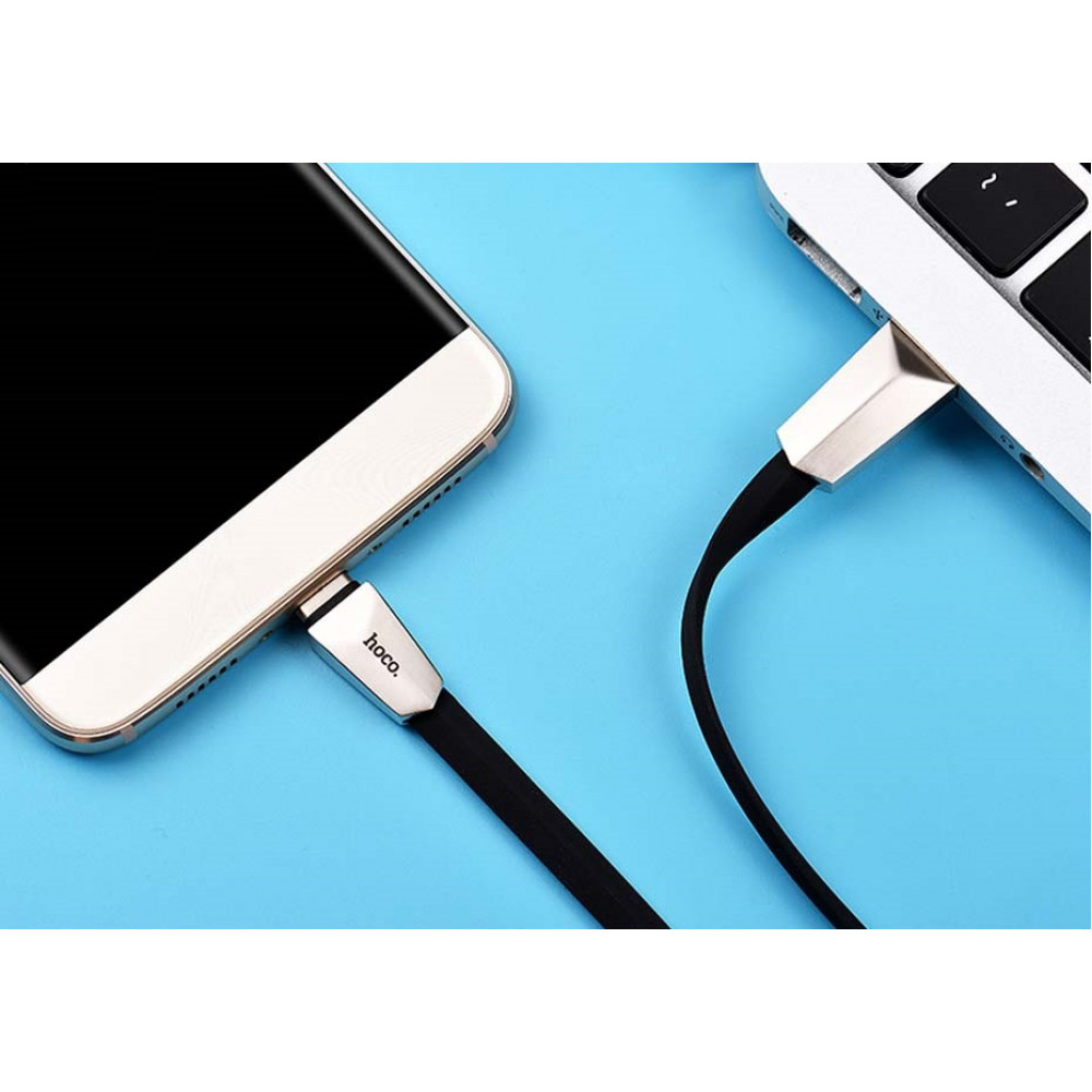 Кабель USB - Lightning hoco. X4 ZINC 1.2M, черный
