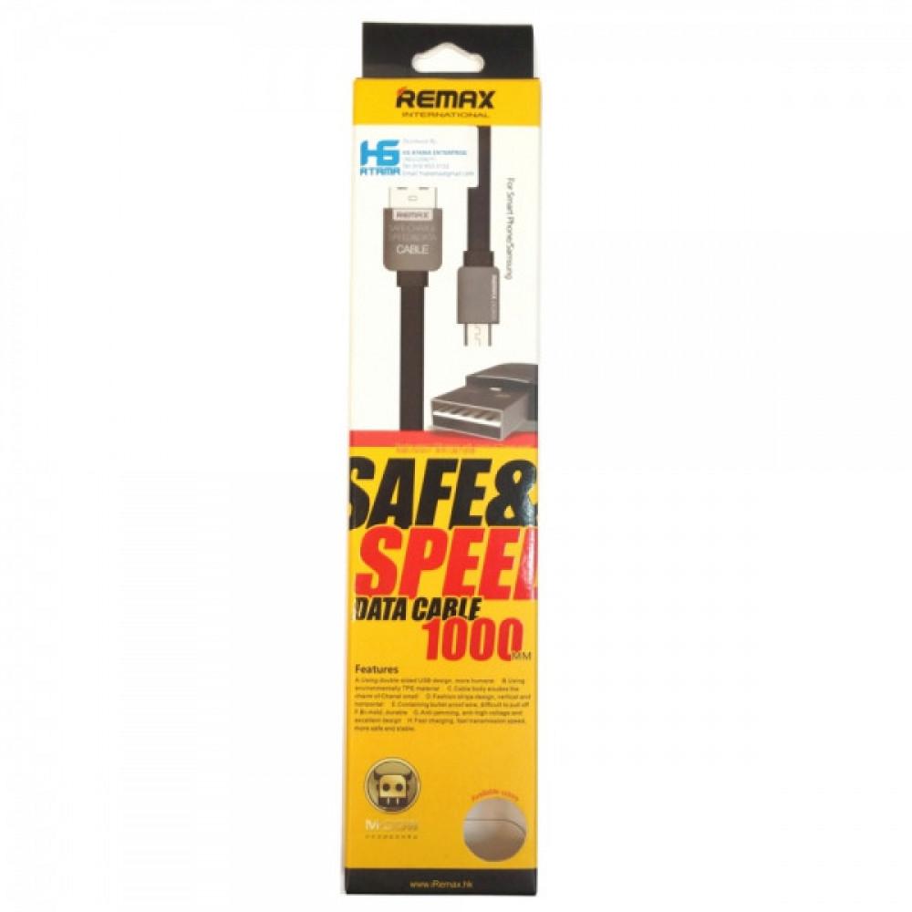 Кабель USB - Micro USB Remax KingKong Safe-Charge (с запахом) 1М, черный