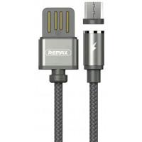 Кабель USB - Micro USB магнитный Remax Gravity Series RC-095m, зеленый