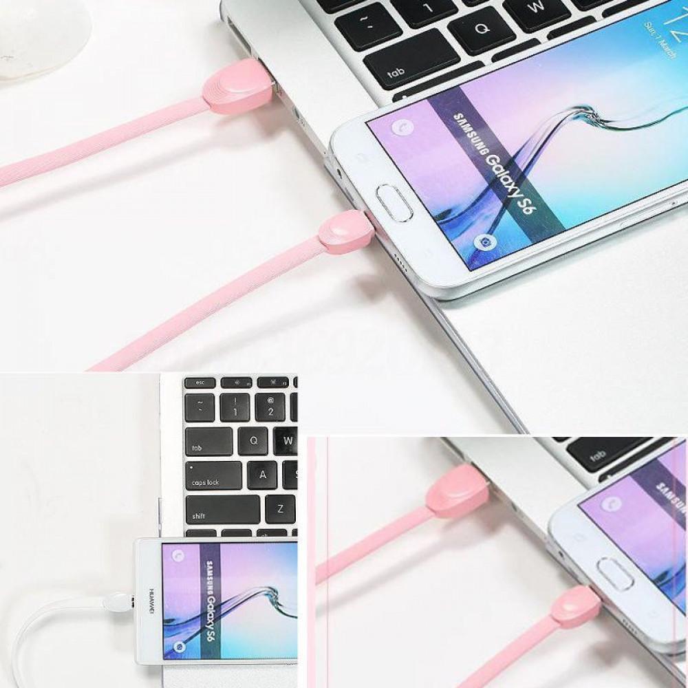 Кабель USB - Micro USB Remax Shell RC-040m 1M, розовый