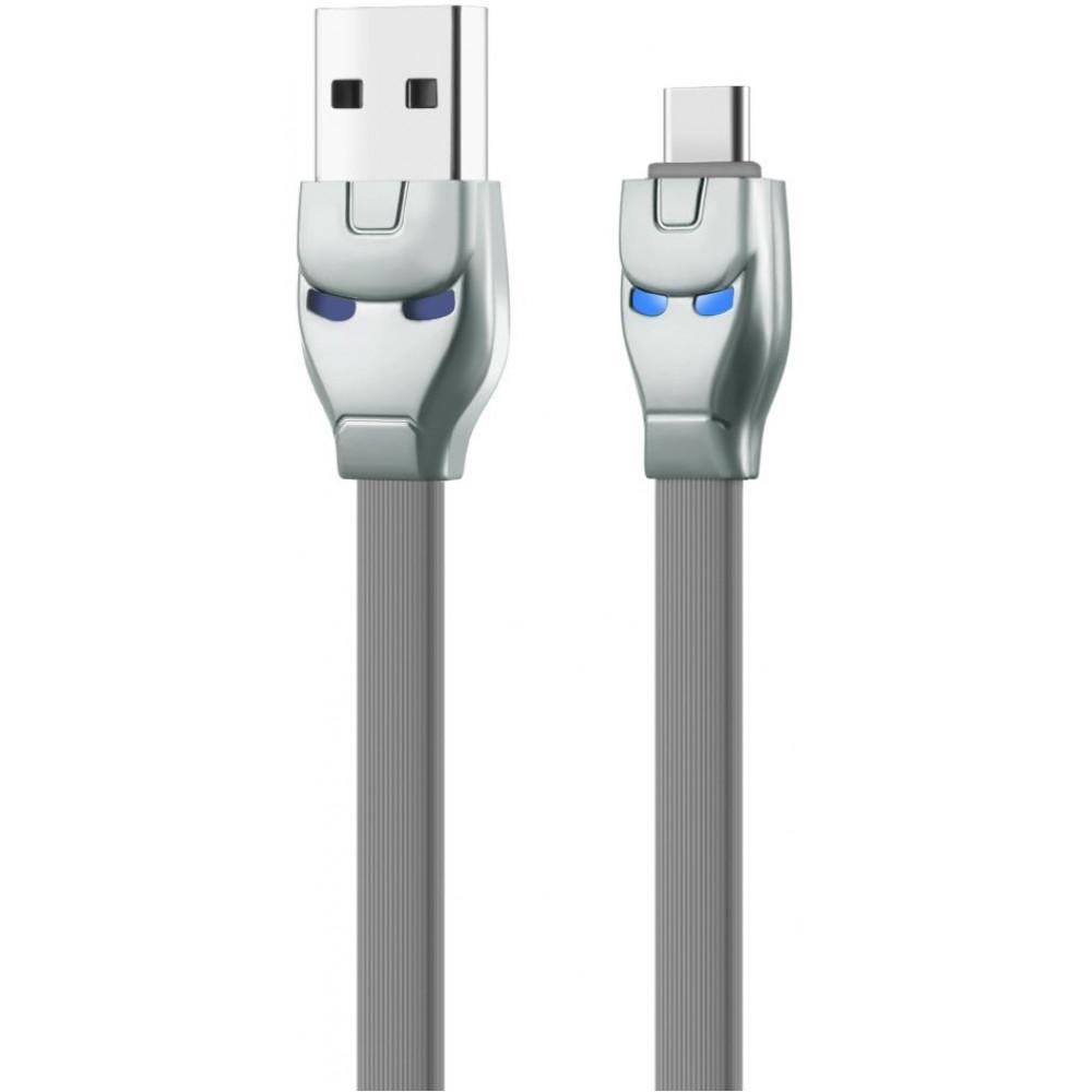 Кабель USB - TYPE-C hoco. U14 Steel, серый