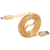 Кабель USB - TYPE-C Remax Platinum Metal RC-044a 1M, золотой