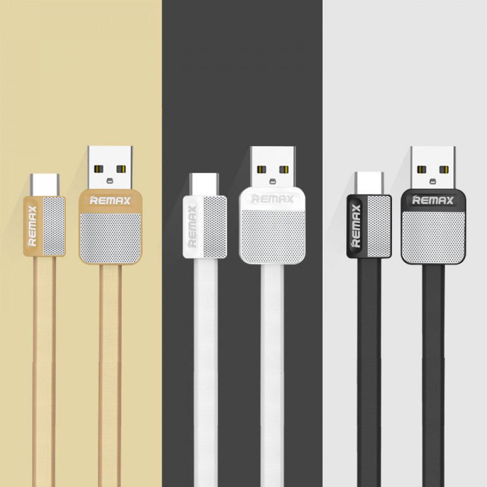Кабель USB - TYPE-C Remax Platinum Metal RC-044a 1M, белый