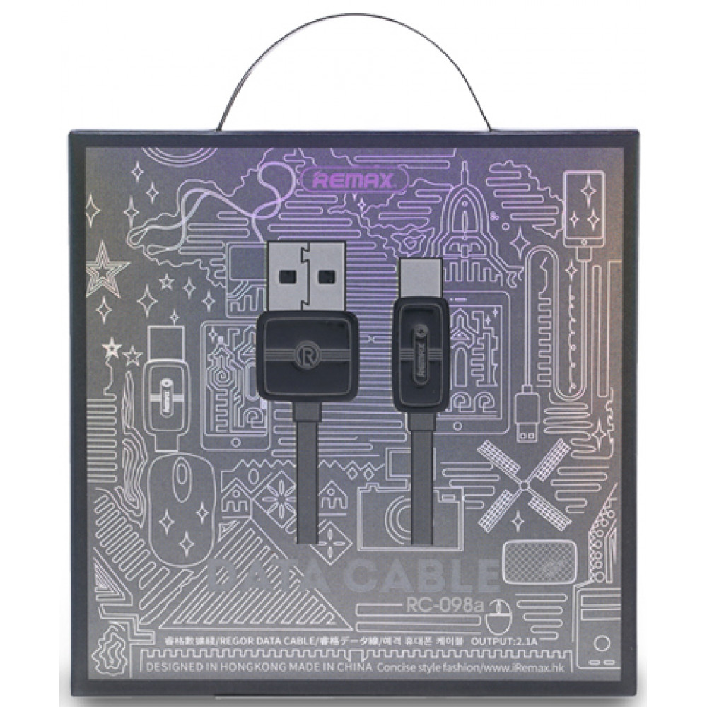 Кабель USB - TYPE-C Remax RC-098a, серый