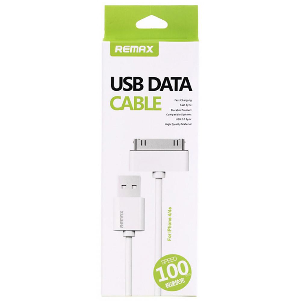 Кабель USB DATA 1M для iPhone 4/4S, белый