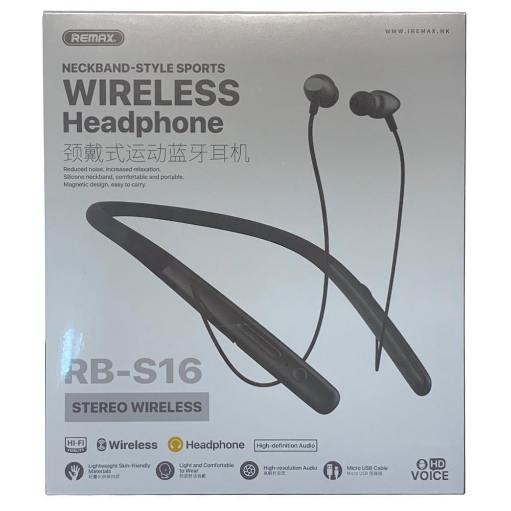 Беспроводные Bluetooth наушники Remax RB-S16, серые