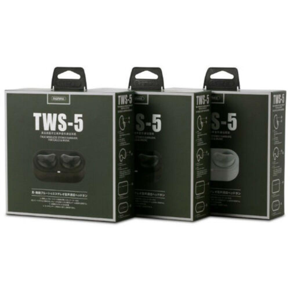 Беспроводные Bluetooth наушники Remax TWS-5, белые