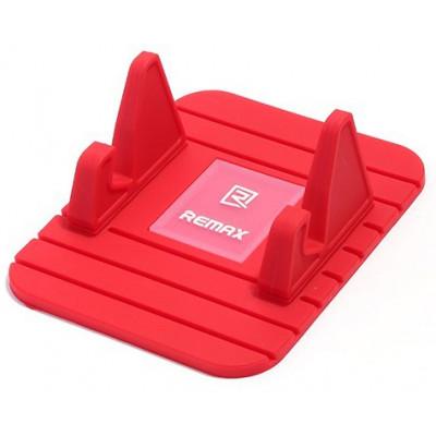 Автомобильный держатель универсальный противоскользящий Remax Fairy, красный