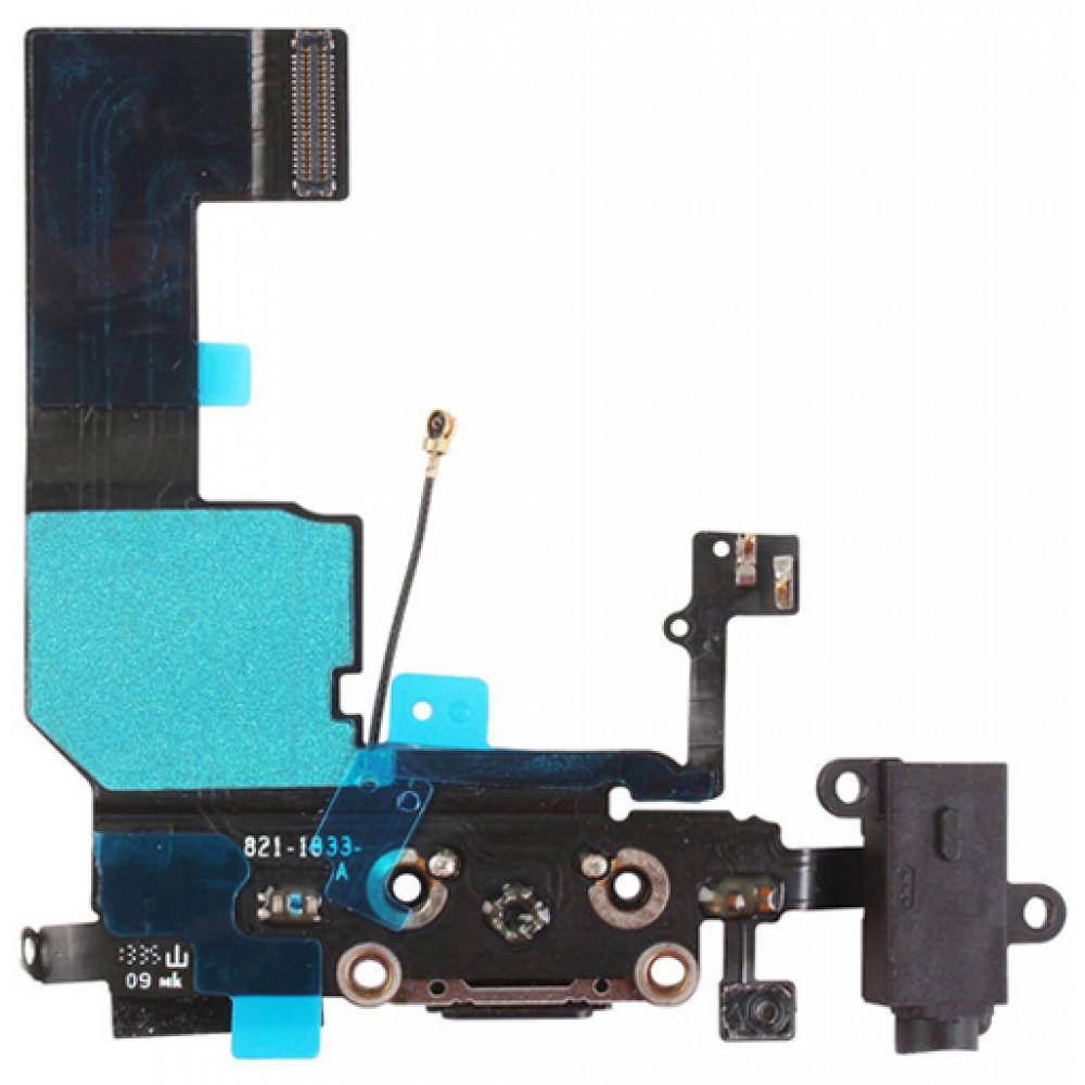 Шлейф для iPhone 5C с разъемом зарядки, аудио выходом и микрофоном
