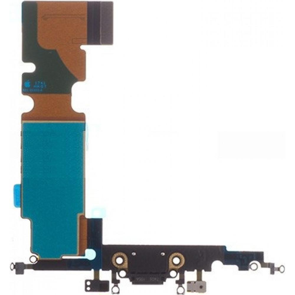 Шлейф для iPhone 8 с разъемом зарядки и микрофоном, черный