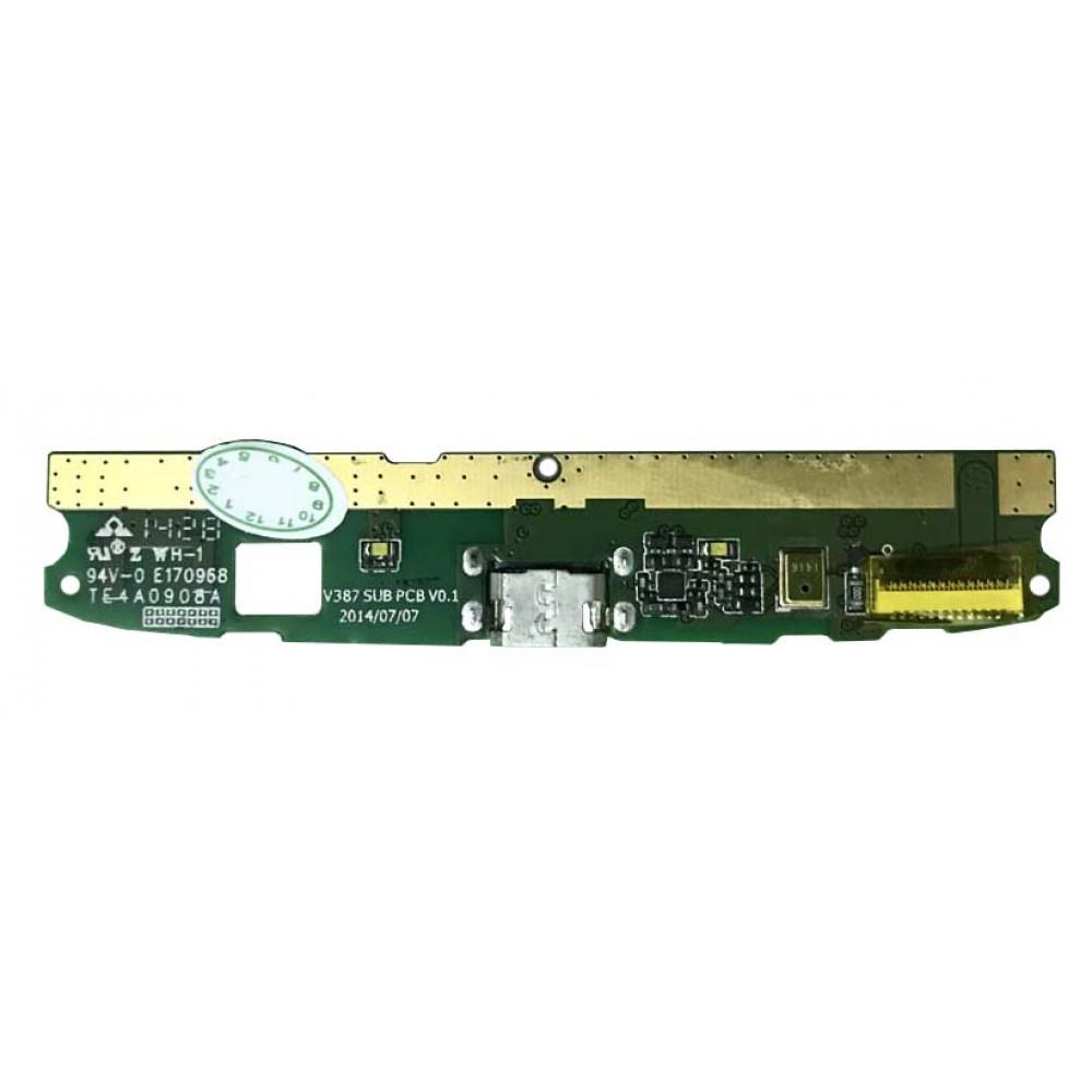 Плата для Philips Xenium V387 с разъемом зарядки