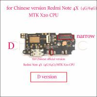 Плата для Xiaomi Redmi Note 4X / 4 Pro (4G/ 64GB) (узкая) с разъемом зарядки (нижняя)