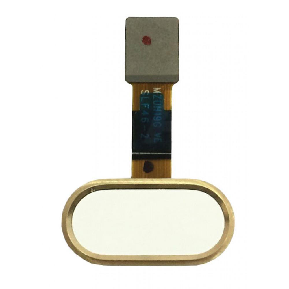 Кнопка HOME в сборе для Meizu M5 золотая