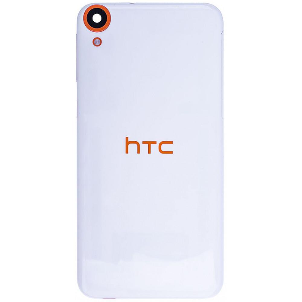 Задняя крышка для HTC Desire 820, бело-оранжевая