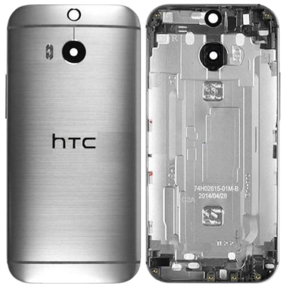 Задняя крышка для HTC One M8, серая