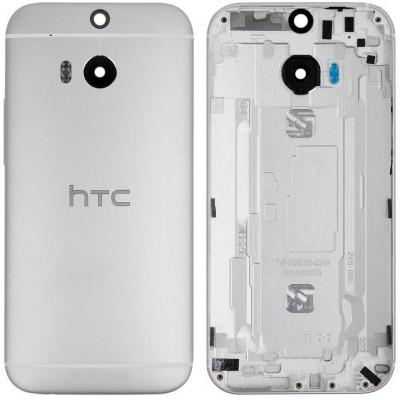 Задняя крышка для HTC One M8, серебро