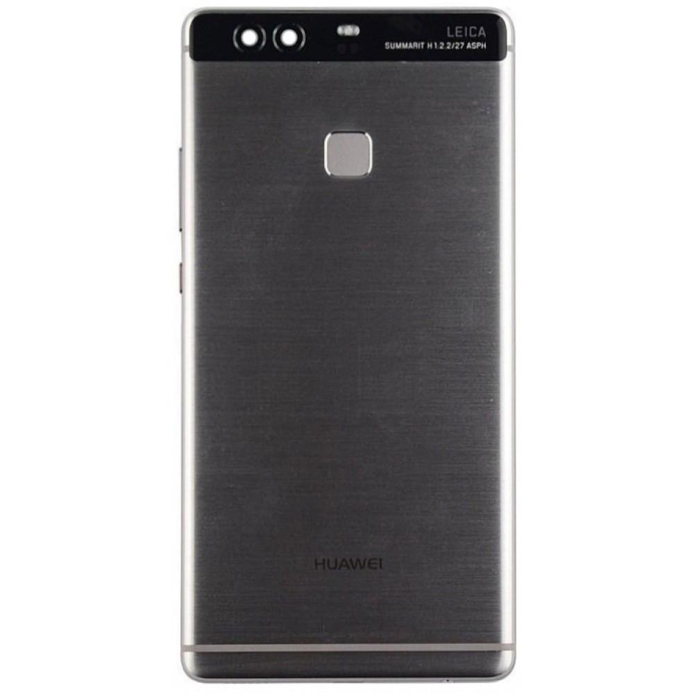 Задняя крышка для Huawei P9 Plus (2017) в сборе с датчиком отпечатка, серая