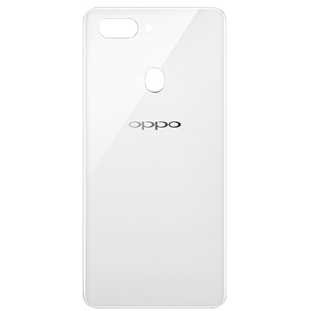 Задняя крышка для OPPO R15, белая ( Frost White )