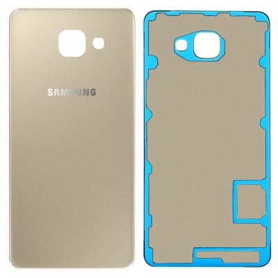 Задняя крышка для Samsung Galaxy A7 (A710 2016) золотая