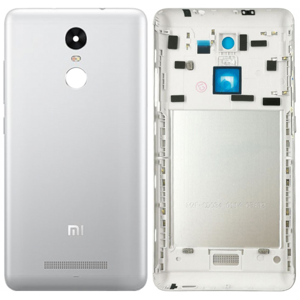 Задняя крышка для Xiaomi Redmi Note 3 серебряная