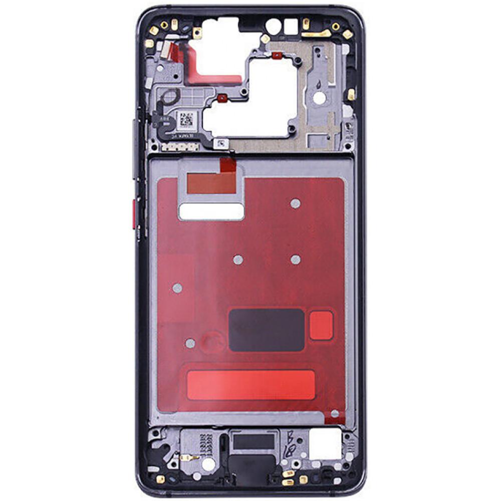 Средняя часть корпуса (рамка) для Huawei Mate 20 Pro, черная (Black)