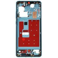 Средняя часть корпуса (рамка) для Huawei P30 Pro, голубая