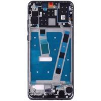 Средняя часть корпуса (рамка) для Huawei P30 Lite / Nova 4E, черная