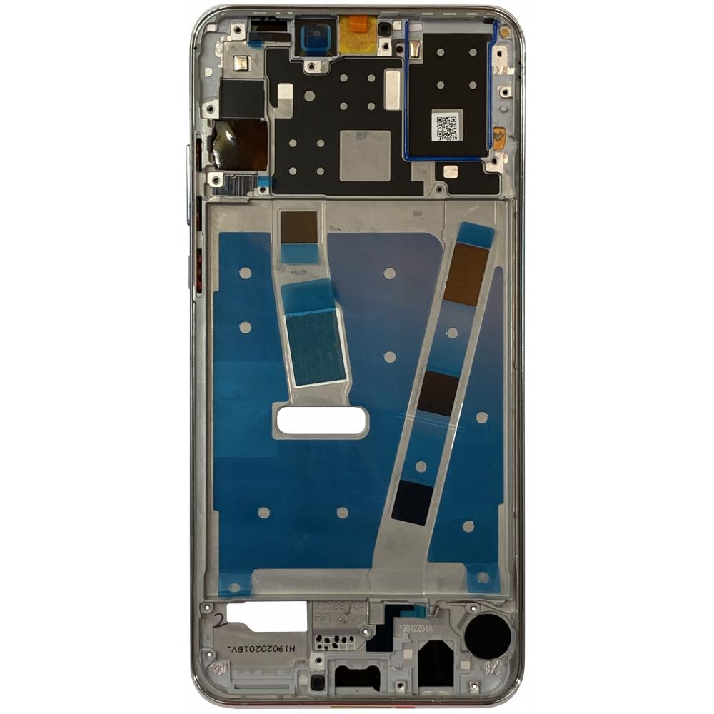 Средняя часть корпуса (рамка) для Huawei P30 Lite / Nova 4E, серебро