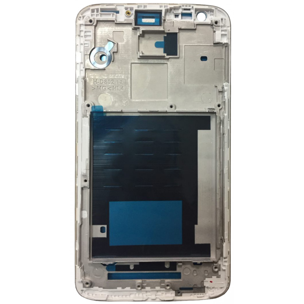 Средняя часть корпуса (рамка) для LG G2, белая