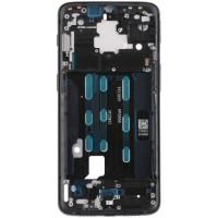 Средняя часть корпуса (рамка) для OnePlus 6T, черная