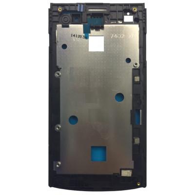 Средняя часть корпуса (рамка) для Philips Xenium S308 черная