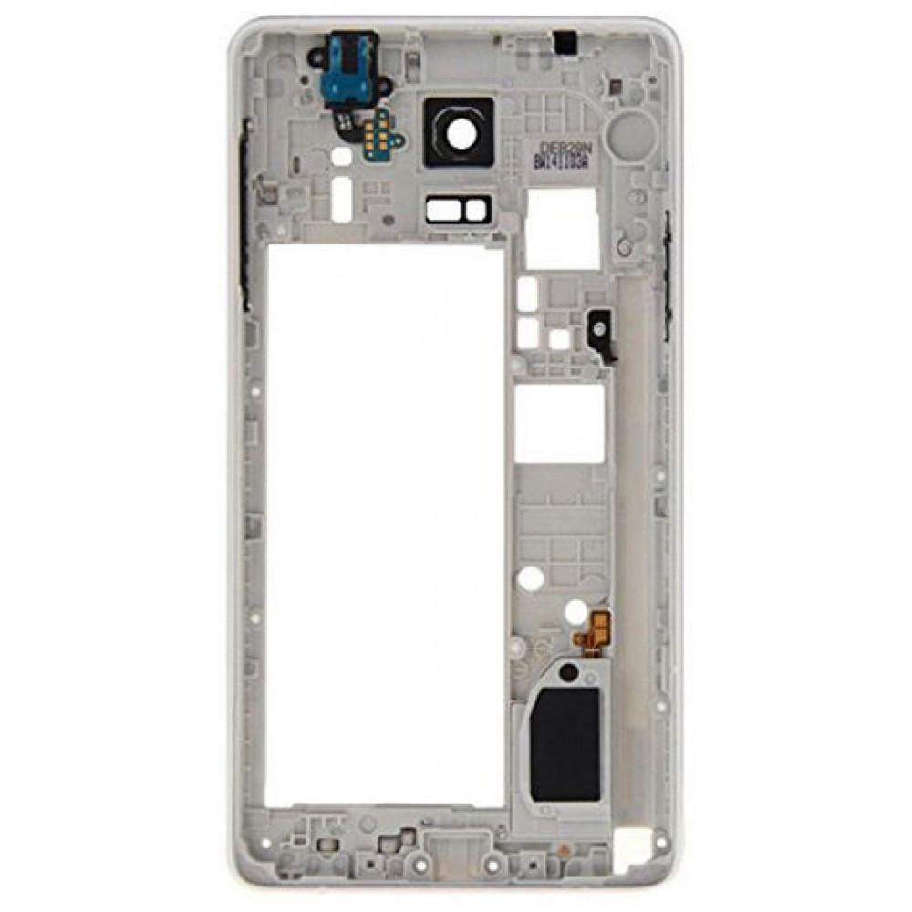 Средняя часть корпуса (рамка) для Samsung Galaxy Note 4 белая