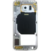 Средняя часть корпуса (рамка) для Samsung Galaxy S6 ( G920F ) белая
