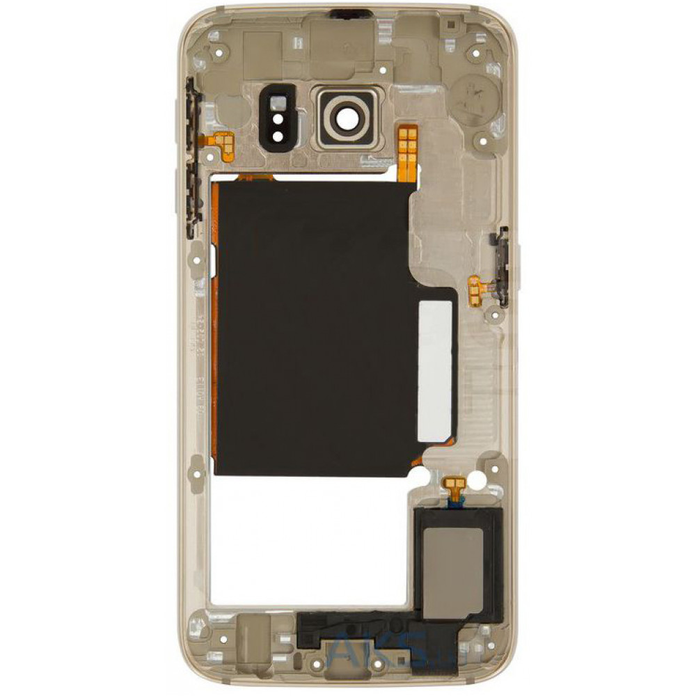 Средняя часть корпуса (рамка) для Samsung Galaxy S6 Edge ( G925F ) золото