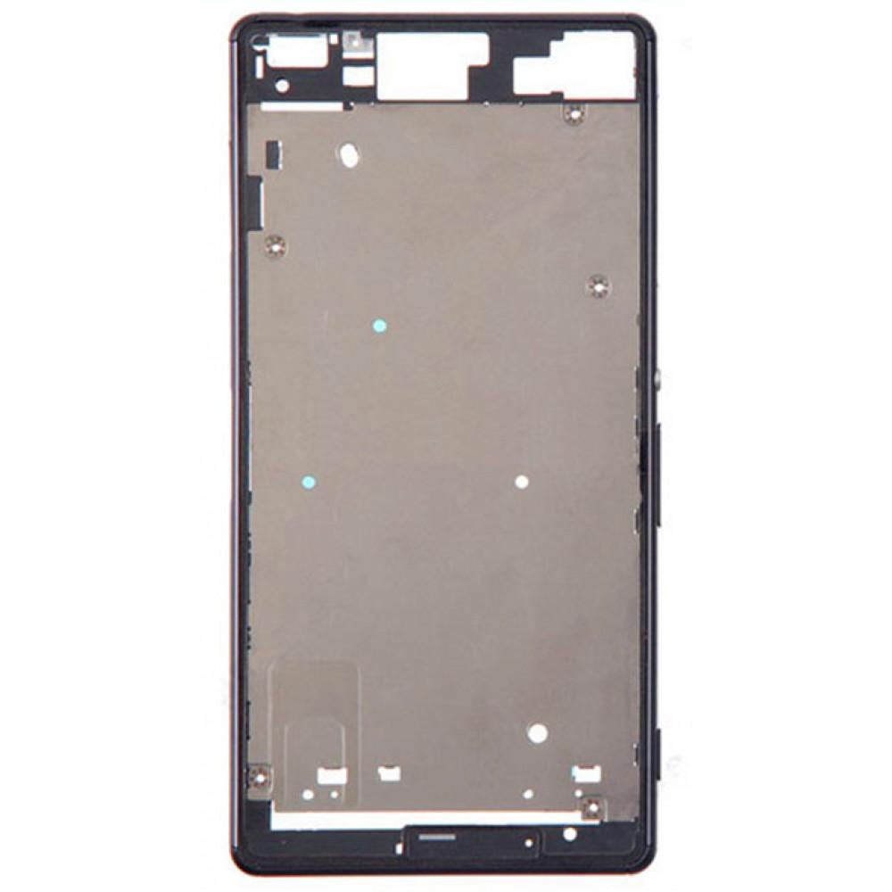Средняя часть корпуса (рамка) для Sony Xperia Z3 (D6603), черная