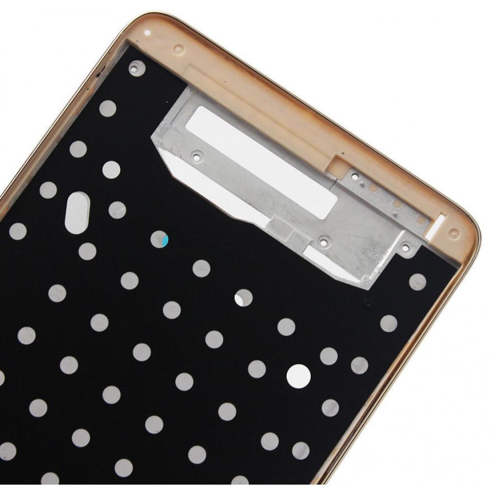 Средняя часть корпуса (рамка) для Xiaomi Redmi Note 3, золото