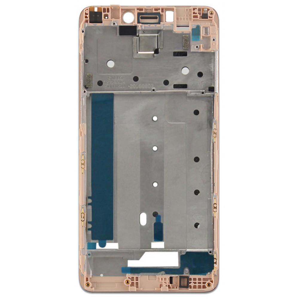 Средняя часть корпуса (рамка) для Xiaomi Redmi Note 4, золотая