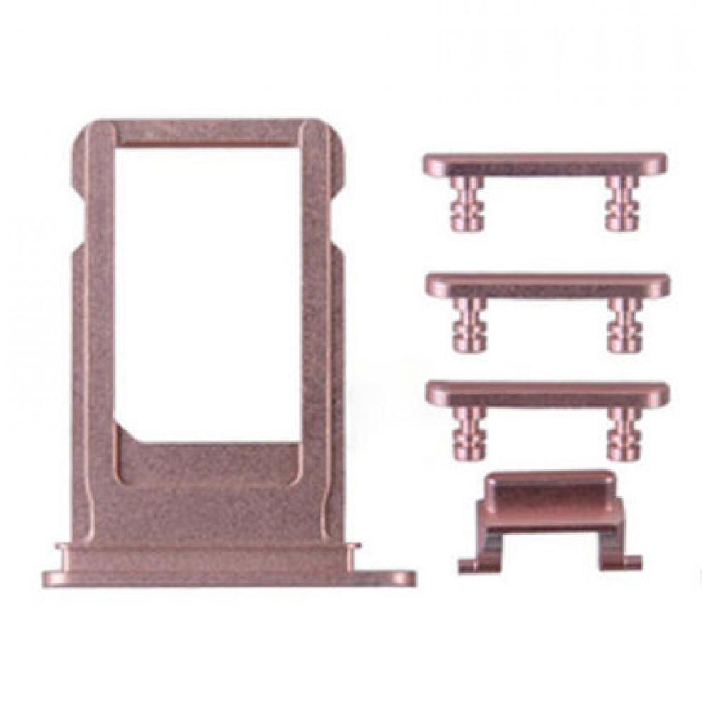 Sim лоток и кнопки (комплект) для iPhone 7/ 7Plus, розовое золото