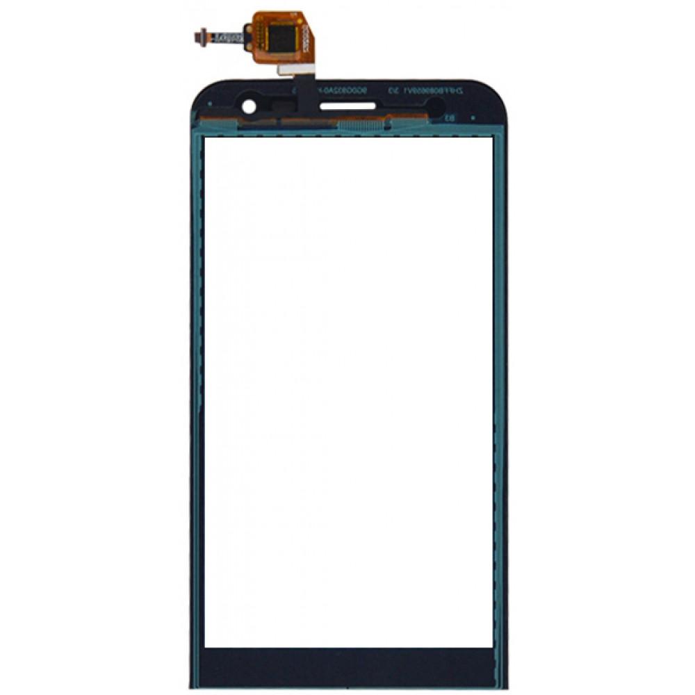 Сенсорное стекло (тачскрин) для Asus Zenfone 2 (ZE500KL), чёрное