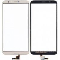 Сенсорное стекло (тачскрин) для Huawei Honor 7C, золотое