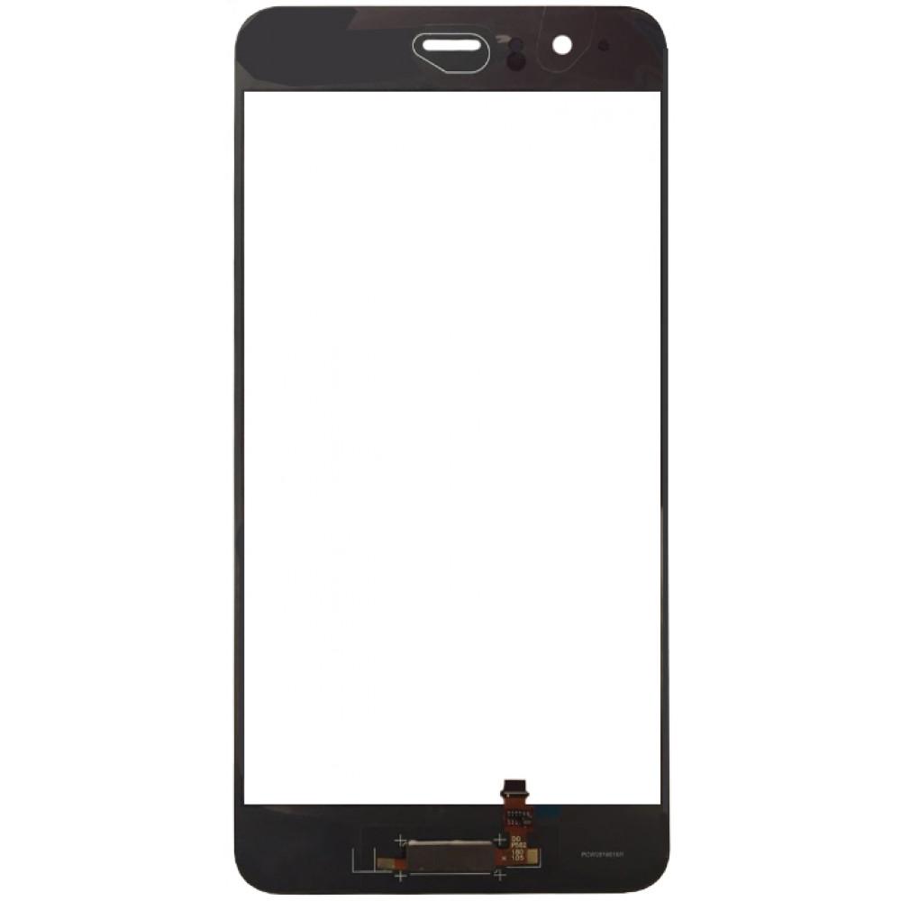 Сенсорное стекло (тачскрин) для Huawei P10 с датчиком отпечатка, черное