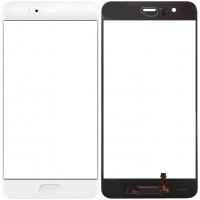 Сенсорное стекло (тачскрин) для Huawei P10 с датчиком отпечатка, белое