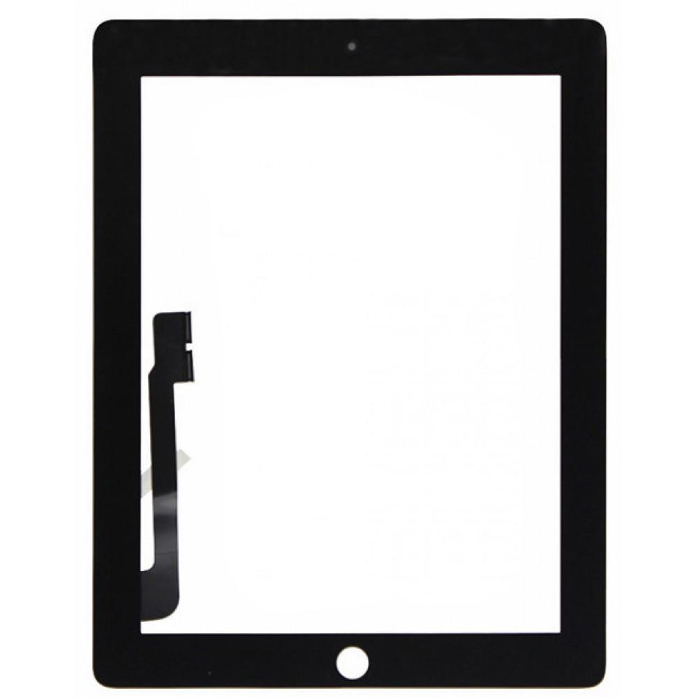 Сенсорное стекло (тачскрин) для iPad 3 / 4, черное