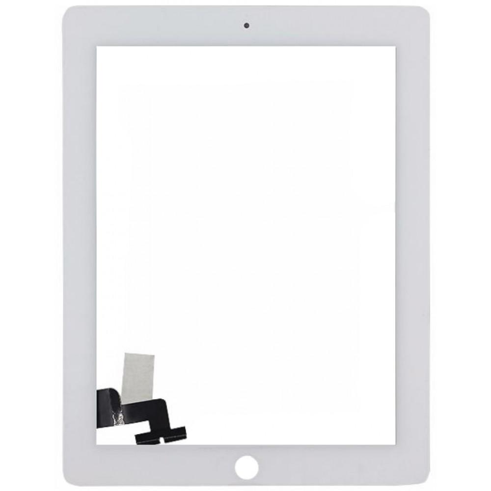 Сенсорное стекло (тачскрин) для iPad 2, белое
