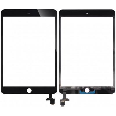Сенсорное стекло (тачскрин) для iPad Mini 3 с контроллером, черное