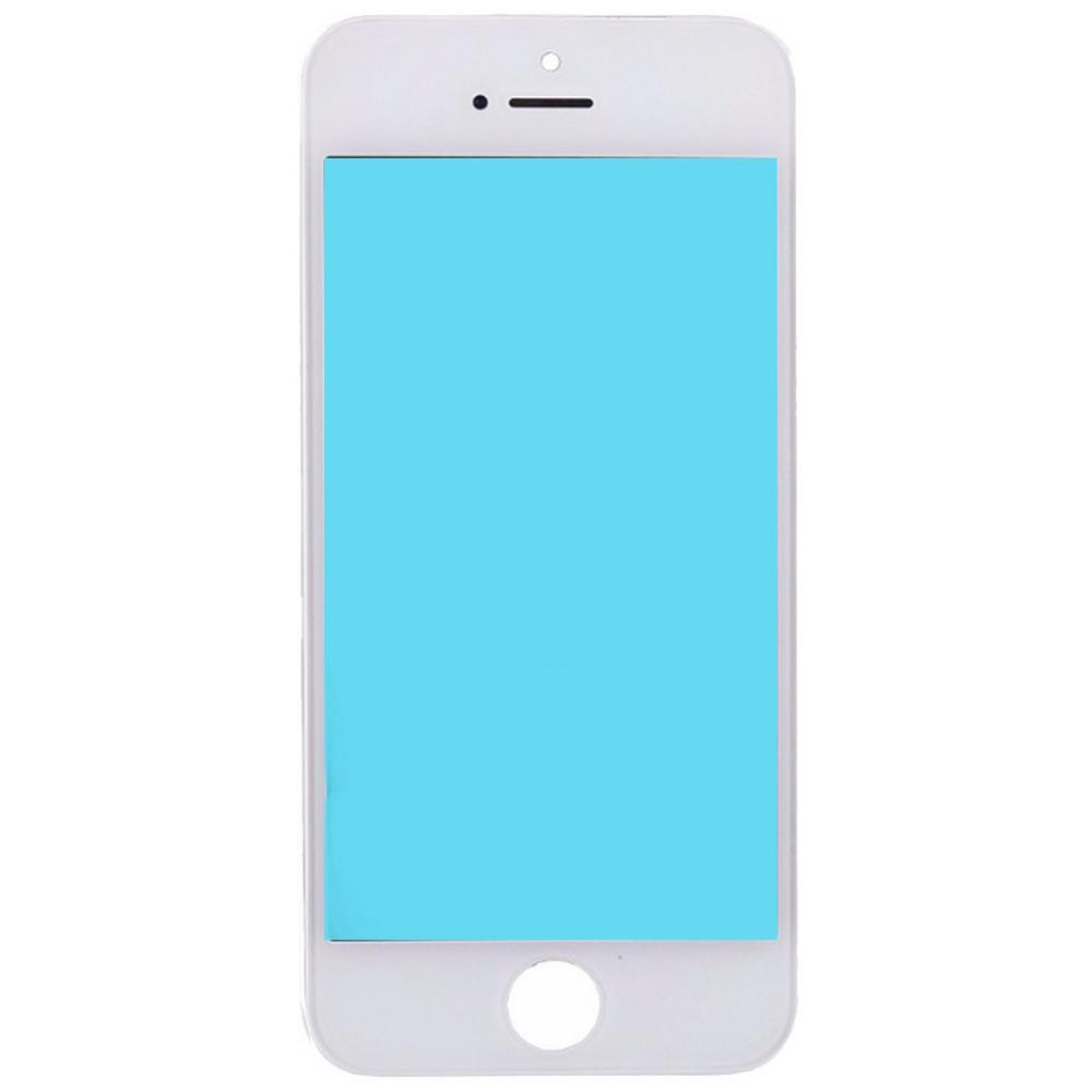 Стекло дисплея с OCA плёнкой и рамкой для iPhone 5, белое
